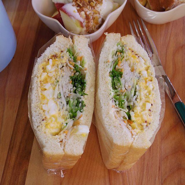 作り置きで話題のレシピ!卵としらすの和風サンド