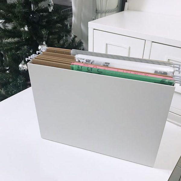 ファイルボックスでゴミ袋を収納