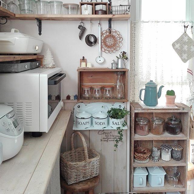 キッチン家電の収納アイデア16