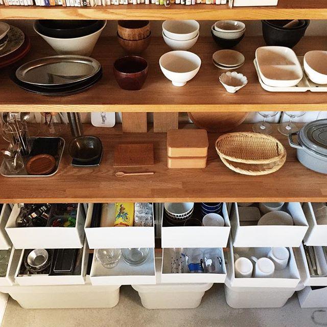 食器もわかりやすく収納できる