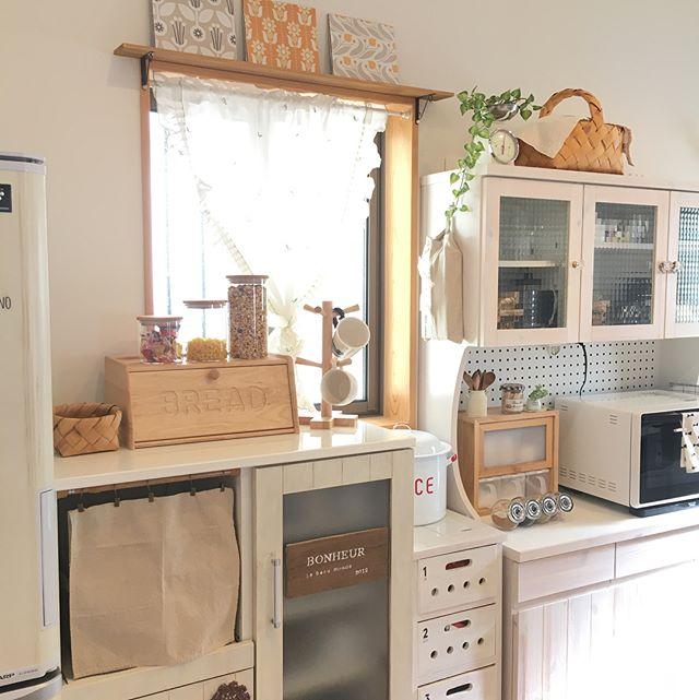 キッチンの突っ張り棒活用アイデア