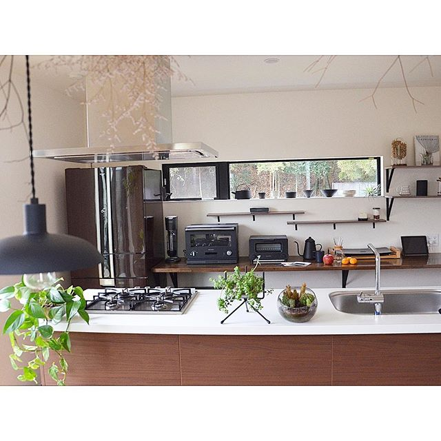 キッチン家電の収納アイデア17