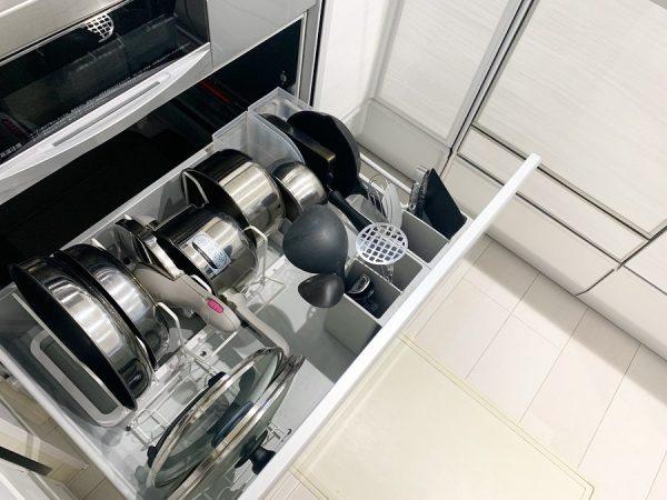 鍋・フライパンの収納6