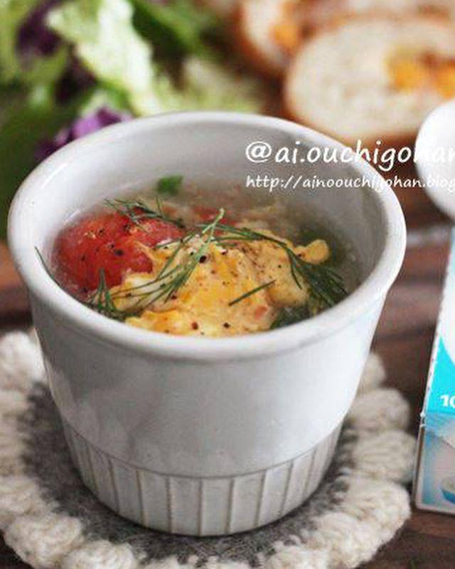 ミニトマトを大量消費!キャベツと卵のとろみスープ