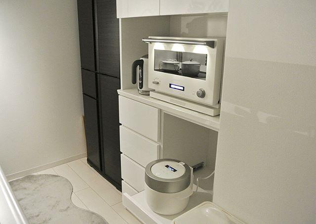 キッチン家電の収納アイデア4