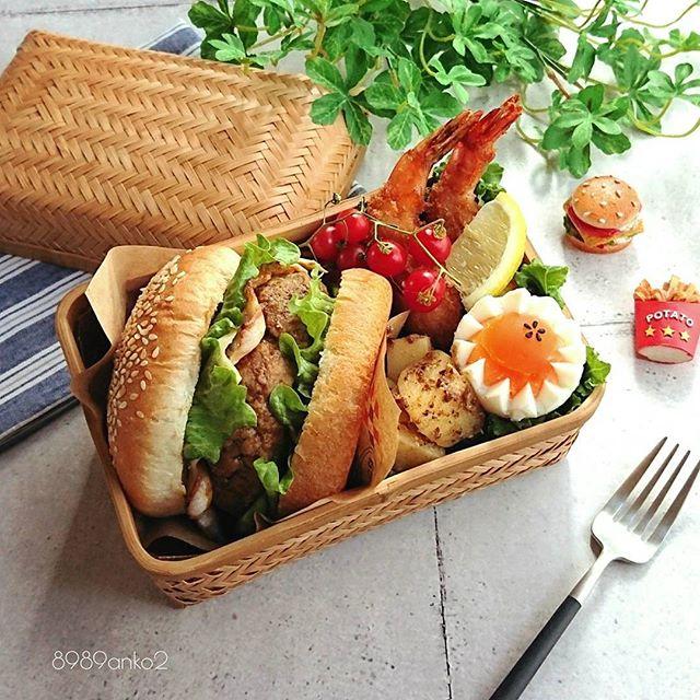 サンドイッチのお弁当☆人気レシピ《ホットドック&バーガー》6
