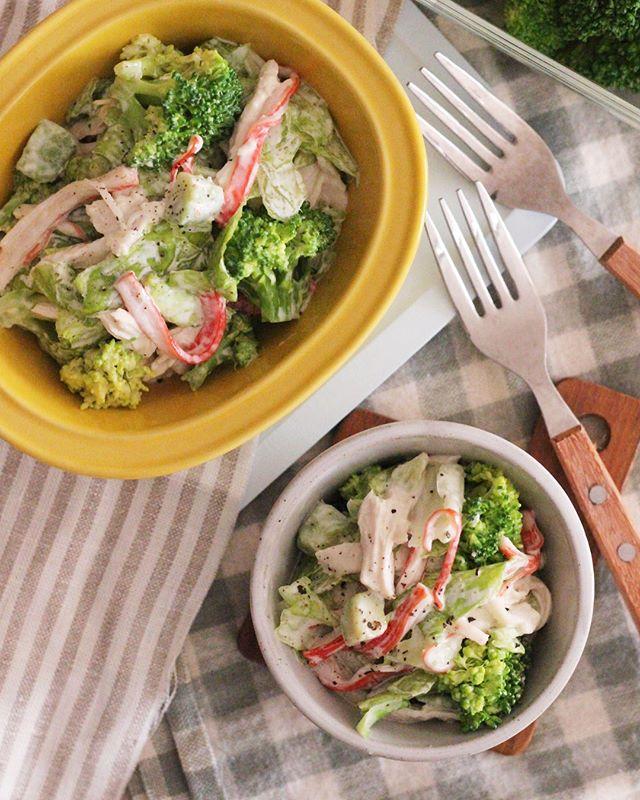 大量消費レシピ!ブロッコリーと蒸し鶏のサラダ