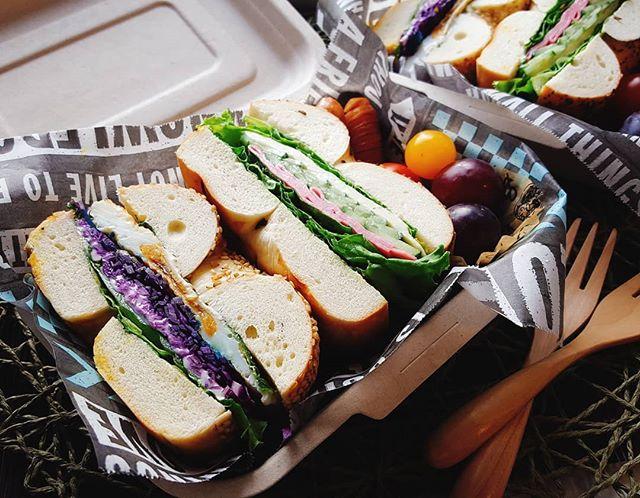 サンドイッチのお弁当☆人気レシピ《バゲット&ベーグル》5