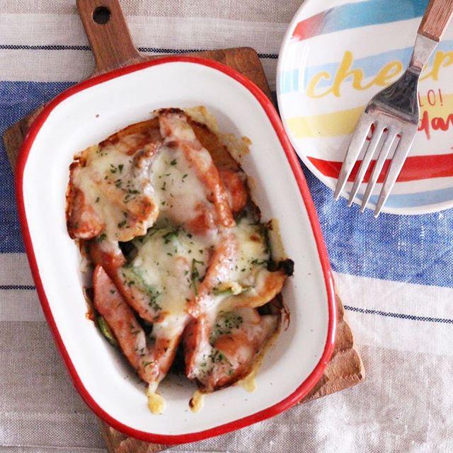 大量消費に人気のレシピ!ナポリタンチーズ焼き