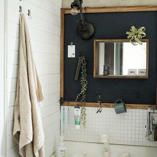 備え付けの洗面台もDIY可能!