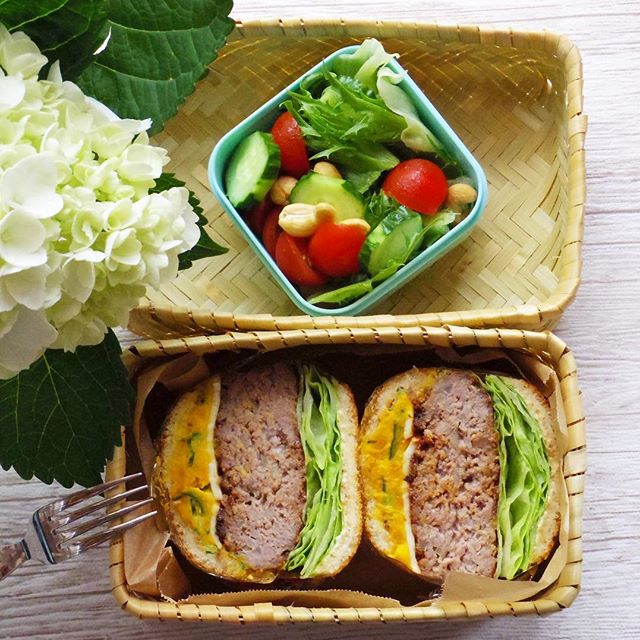 サンドイッチのお弁当☆人気レシピ《ボリュームサンド》2