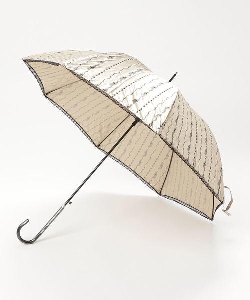 [salle de bal] 雨晴兼用 サテンジュエリープリント 長傘 1281