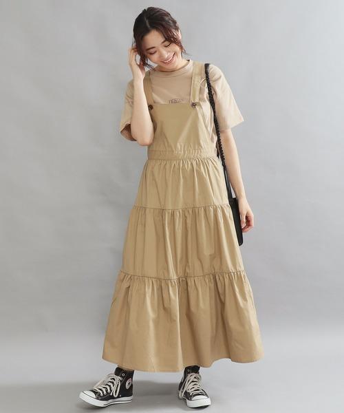 [AULI] AULI ティアードジャンパースカート