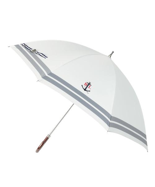 [MOONBAT] 日傘 【ボーダー×ワンポイントモチーフ】