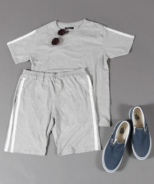 [WESTSEA] 【WEB限定】半袖Tシャツ+スウェットパンツセットアップ(ルームウェア/パジャマ)