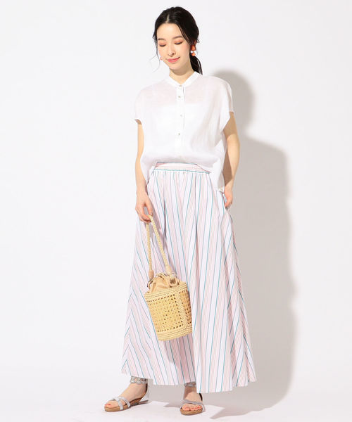 [SHIPS for women] マルチストライプスカート