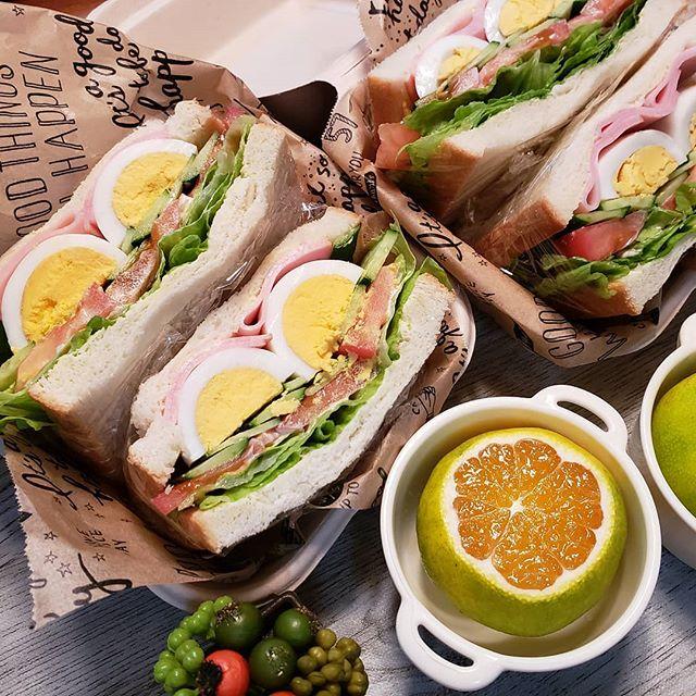 サンドイッチのお弁当☆人気レシピ《ボリュームサンド》5