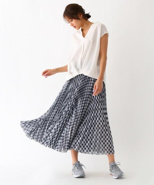 [aquagirl] 裾タック・シアーシャツ