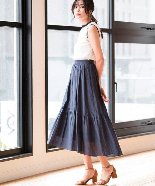 [ANAYI] ライトローンティアードスカート