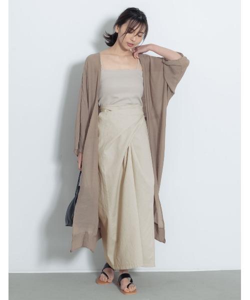 [Re:EDIT] [お家で洗える]マルチウェイリネンブレンドラップスカート