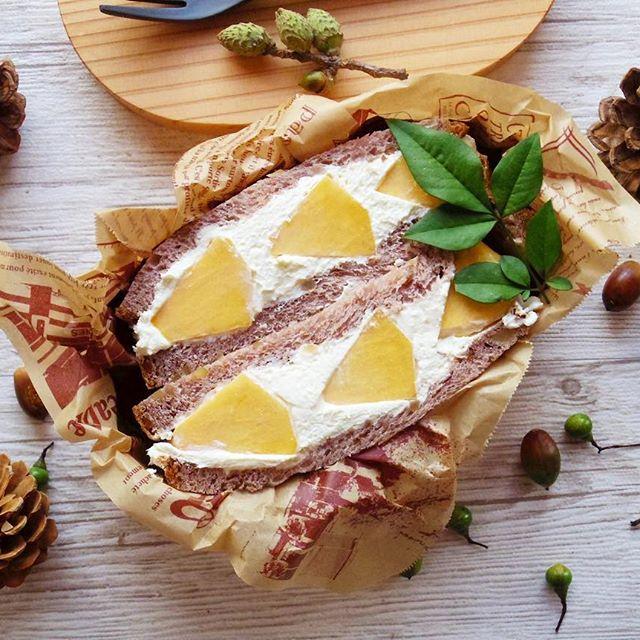 サンドイッチのお弁当☆人気レシピ《デザートサンド》3