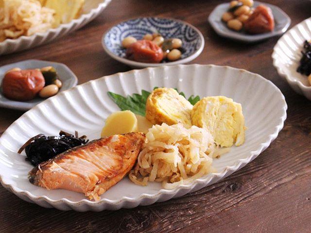 塩鮭&卵焼きのワンプレート