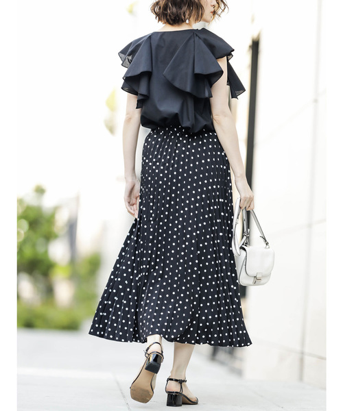 [tocco closet] ドット柄プリーツスカート
