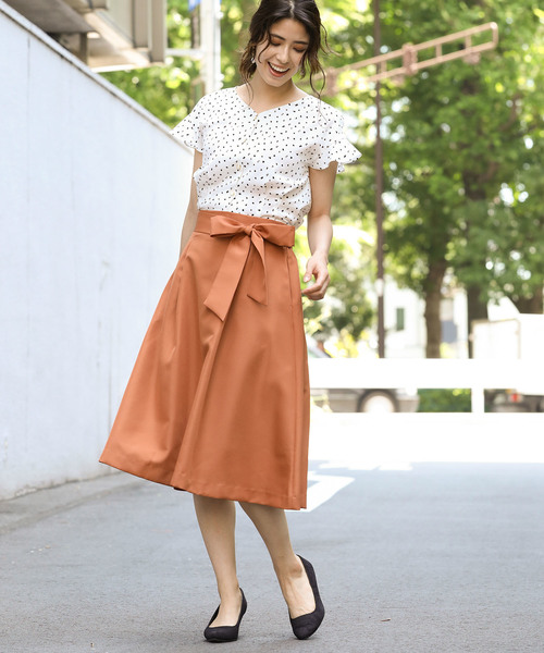 [ViS] タックフレアスカート