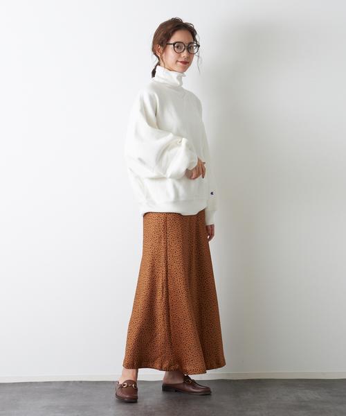 [Rouge vif la cle] ダルメシアン柄マーメイドロングスカート