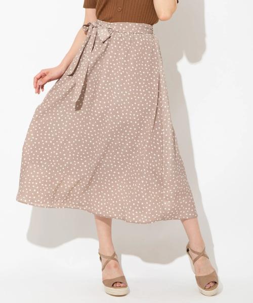 [Ailand] ダルメシアンプリントロングスカート