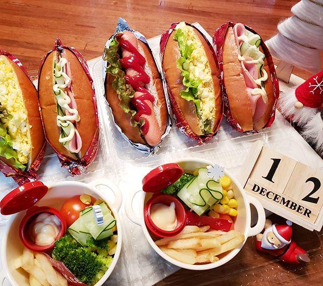 サンドイッチのお弁当☆人気レシピ《ホットドック&バーガー》3