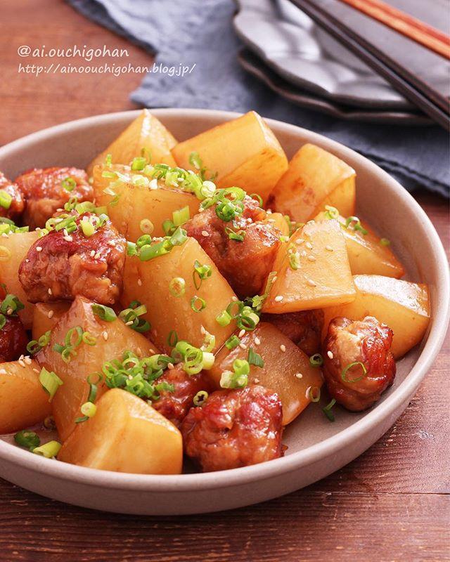 大量消費レシピ!豚こま団子と大根のオイスター煮