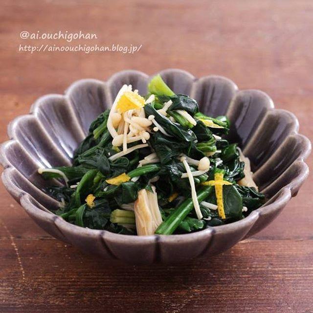 ほうれん草の人気で大量消費レシピ☆副菜