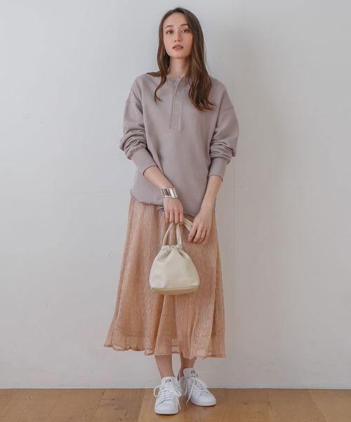 [rectangle] ラメプリーツスカート