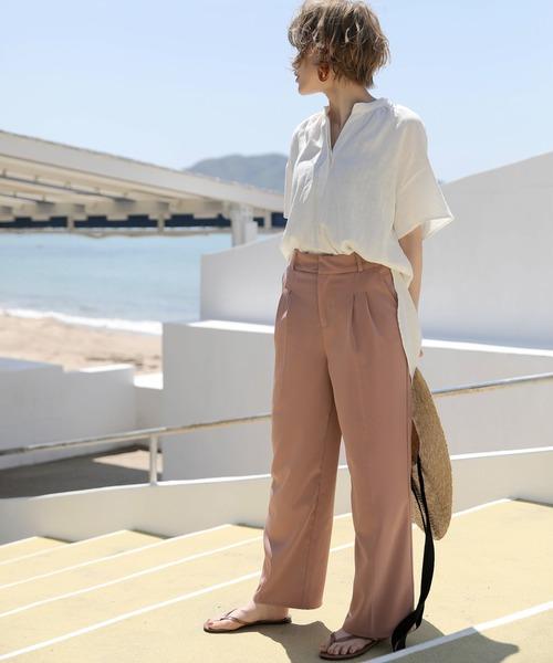 [select MOCA] 2020 S/S カラーセンターラインパンツ/美シルエット春カラーパンツ