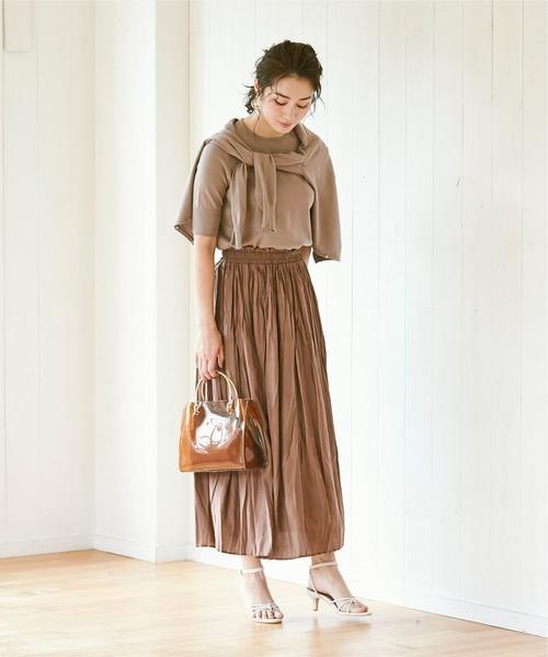 [ur's] ワッシャープリーツスカート