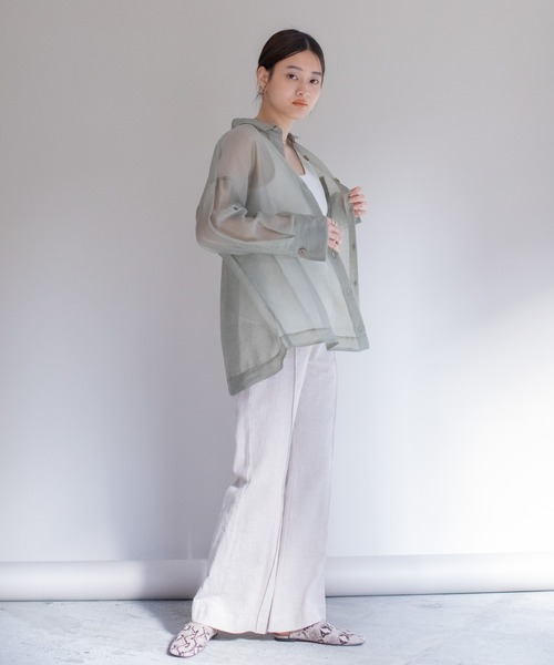 [LANDWARDS] 【Eimee Law】シアーゆるシャツ
