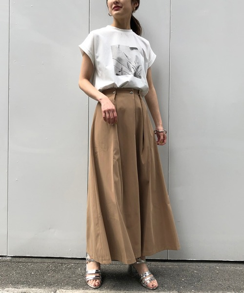 [HER CLOSET] 【&g'aime】タックフレアスカート/ロングスカート