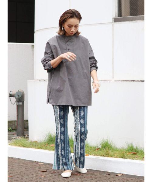 [Ungrid] フロントデザインシャツ