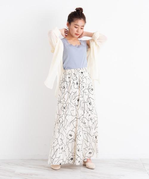 [Auntie Rosa] VANNIE U ニュアンスフラワースカート