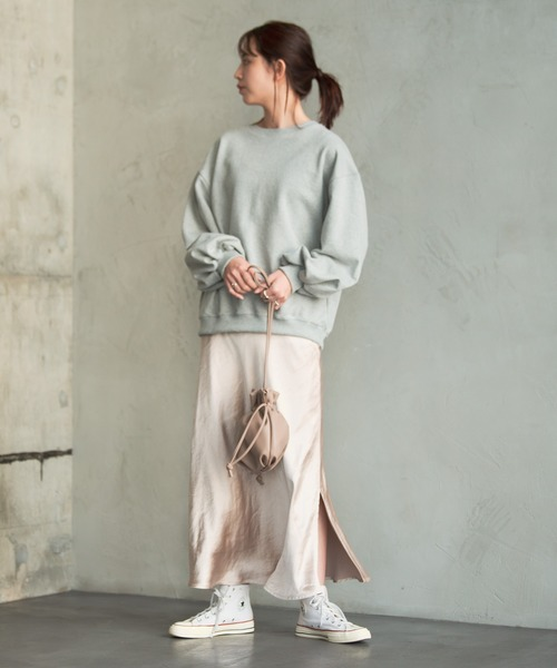 [YARD PLUS/AUNT MARIE'S] AUNT MARIE'S ダブルサテンマーメイドスカート
