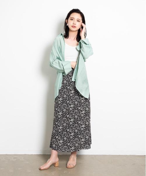 [YARD PLUS/AUNT MARIE'S] AUNT MARIE'S 小花柄マーメイドスカート