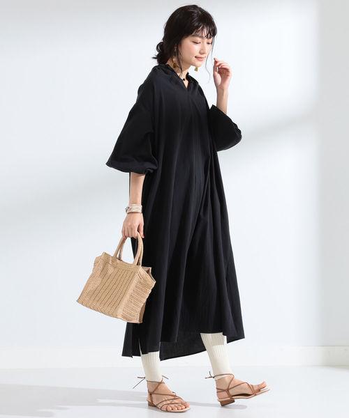 [BEAMS WOMEN] Ray BEAMS / ボリューム ギャザー ワンピース☆