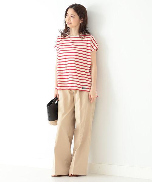 [BEAMS WOMEN] Le minor / 別注 DEBARDEUR キャップスリーブ Tシャツ