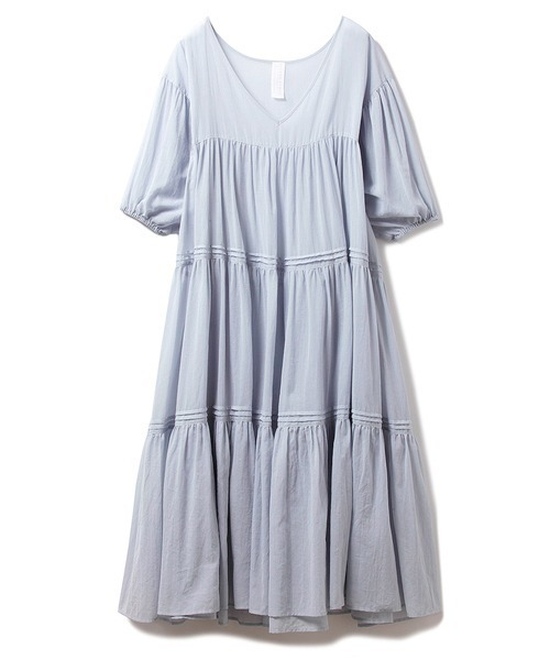 [gelato pique] コットンシフォンギャザードレス