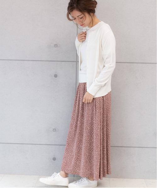 春におすすめ◎アンサンブル×レオパードスカート