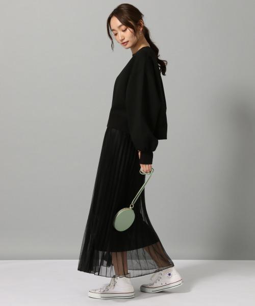 [JEANASIS] シアーシャイニープリーツスカート/876109