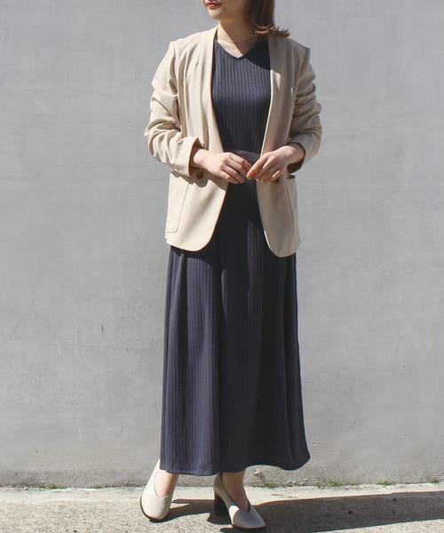 [STYLE AVENUE] 【ファッションインフルエンサーerikoさん×LAVEANGEコラボ】前後2WAYリブカットソーワンピース