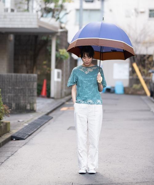 [Wpc./KiU] 【オンライン限定】雨傘  切り継ぎバードケージアンブレラ