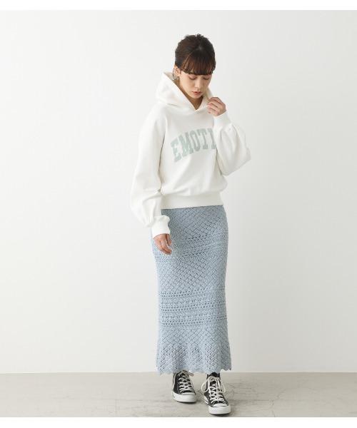 [SHEL'TTER] かぎ編み風ヘムフレアスカート